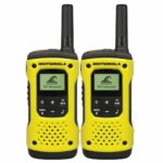 motorola walkie talkie i gul